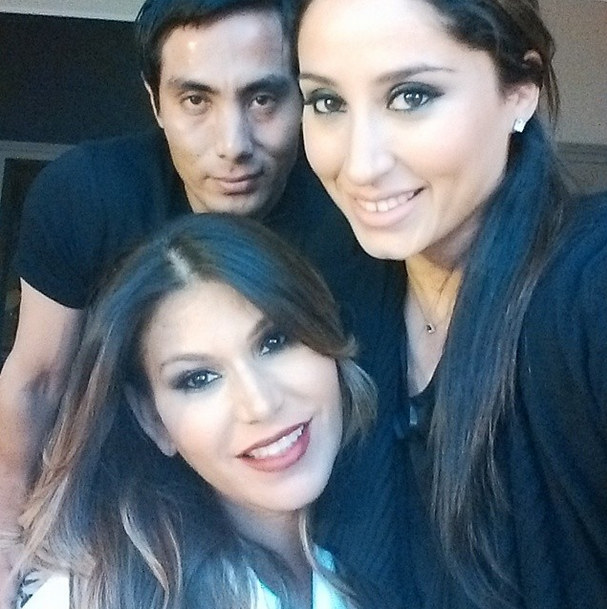 Love you both so much! having an amazing time beautifying @lorenridinger for #maic2014 @motivescosmetics xoxo #jackiegomez makeup by me xoxo